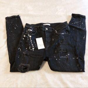 Zara | Splatter Paint Black Jeans